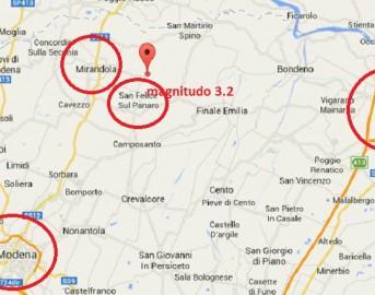 Terremoto oggi in Emilia: scossa magnitudo 3.2 a Modena, Bologna, Mantova