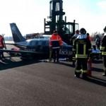 Linate atterraggio d'emergenza