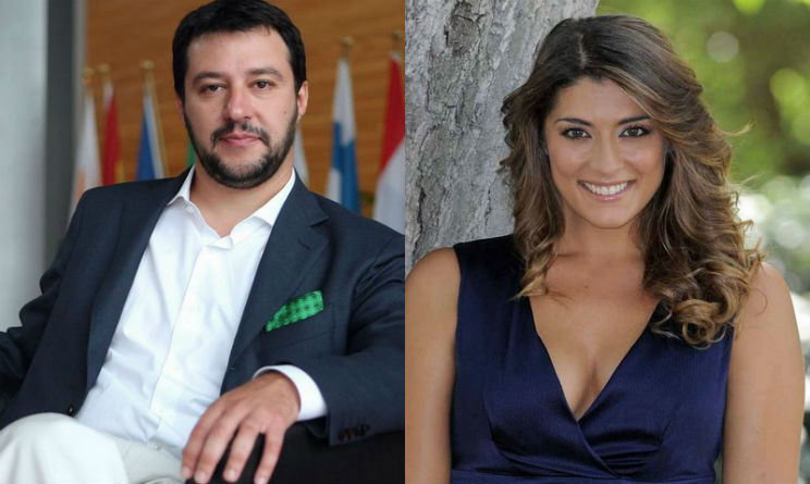 Matteo Salvini selfie d'amore con elisa isoardi