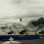 Norman Atlantic ancora fumi a bordo