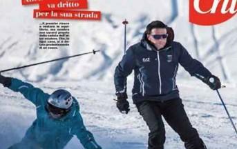 Matteo Renzi urta uno sciatore, non lo soccorre e scia senza casco