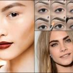 Tendenza beauty make-up sopracciglia