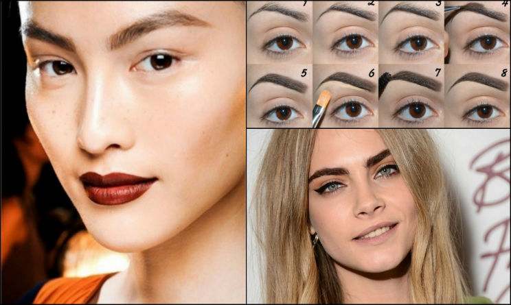 Tendenza beauty make-up sopracciglia. in Moda 9f597b662e55