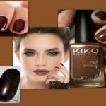 Manicure trendy color marrone cioccolato