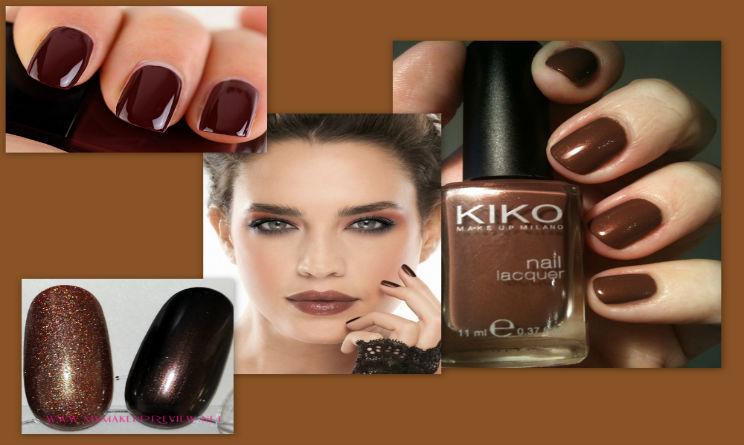 Manicure trendy color marrone cioccolato. in Moda 9e0fa4eb500e