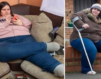 """Ha 28 anni e pesa 175 kg: """"Nessuna dieta, così ho la pensione di invalidità"""""""