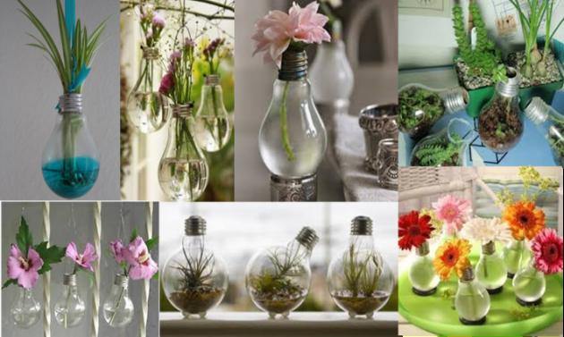 Come riutilizzare le vecchie lampadine per arredare casa e contenere i fiori - UrbanPost