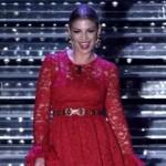 Emma in rosso seconda serata Sanremo 2015