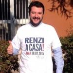 Matteo Salvini manifestazione Roma contro Renzi