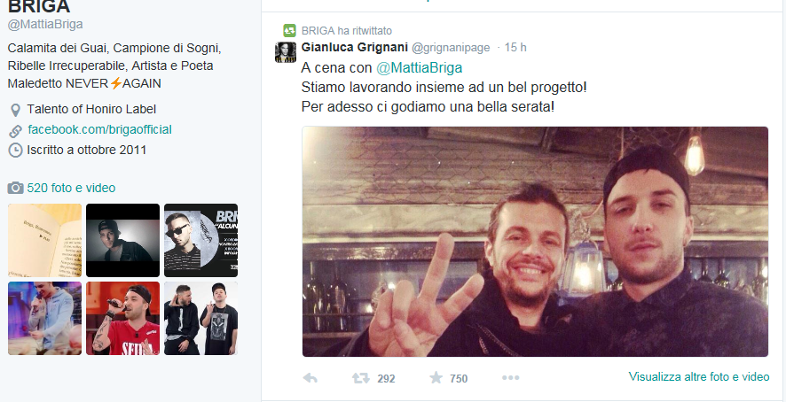Gianluca Grignani Twitter