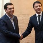 Matteo Renzi incontra Tsipras