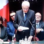 Sergio Mattarella insediamento in Parlamento