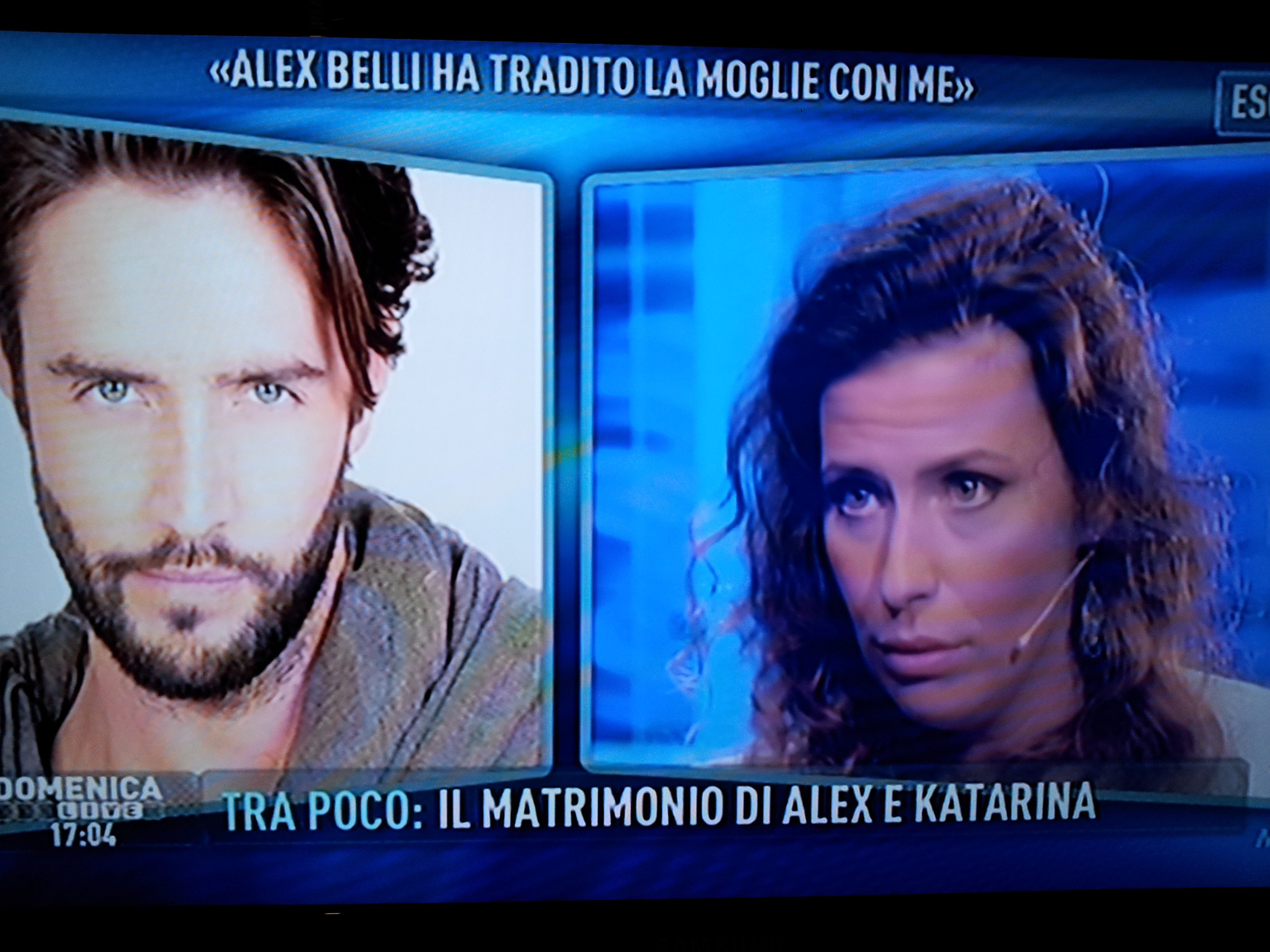 Noemi amante Alex Belli