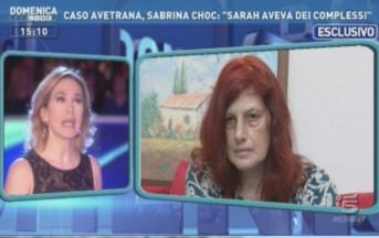 Caso Scazzi ultime news Domenica Live: parla Concetta Serrano, mamma di Sarah