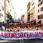 cortei studenti contro governo Renzi