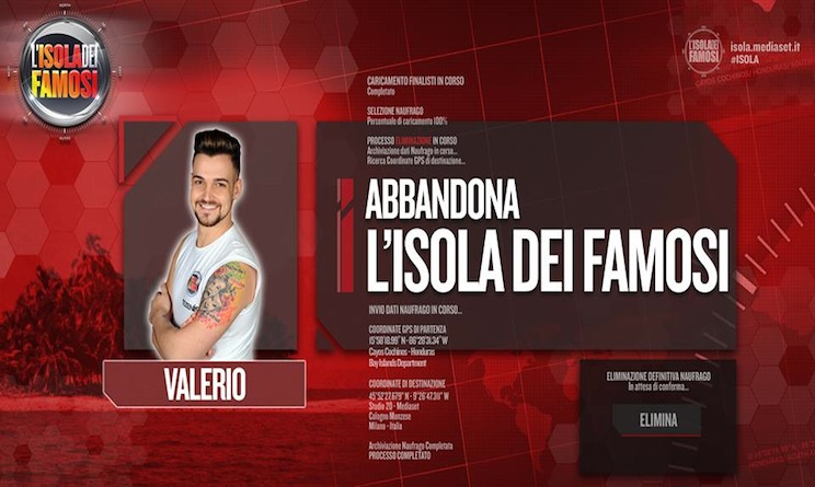 Eliminazione Valerio Scanu Isola dei Famosi 2015