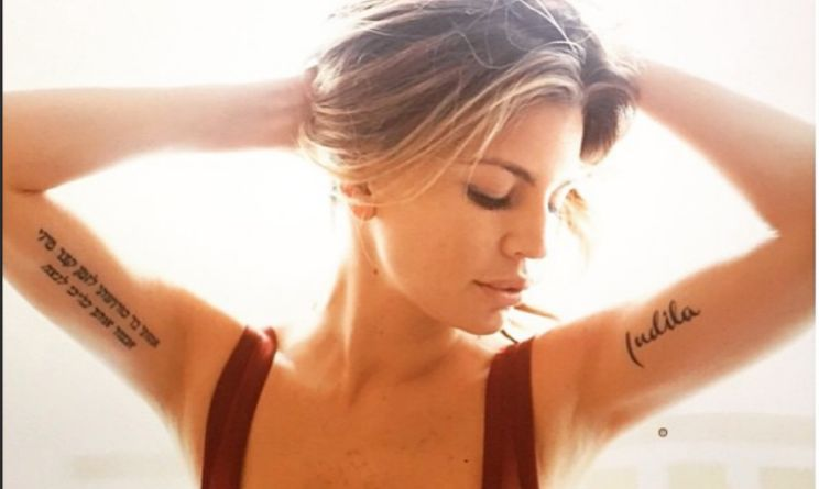 Claudia Galanti tatuaggio