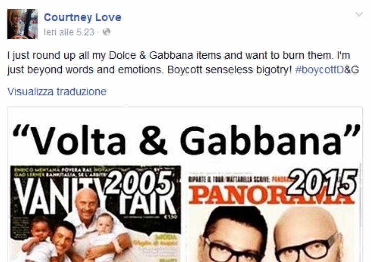 courtney love dolce e gabbana