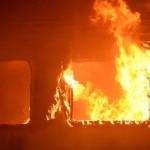 Incendio vagone treno in Calabria