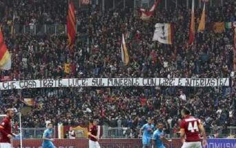 Roma – Napoli: caos sui cori e sullo striscione esposto all'Olimpico