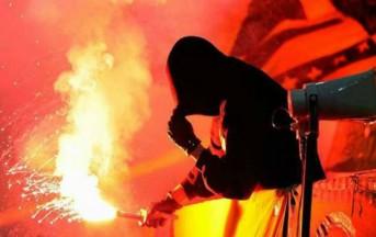 Palermo – Lazio, scontro tra tifosi: tifoso a terra preso a calci in testa
