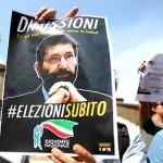 Proteste in Campidoglio per Mafia Capitale