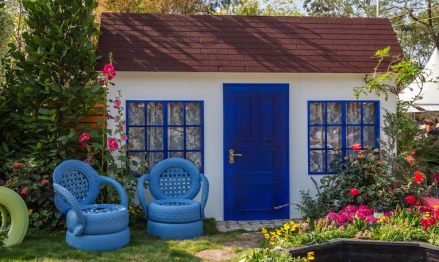 Arredo giardino 3 idee fai da te originali di riciclo for Oggetti da giardino