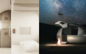 Architettura sostenibile: arriva l'Ecocapsula, la casa mobile che non ha bisogno di energia elettrica