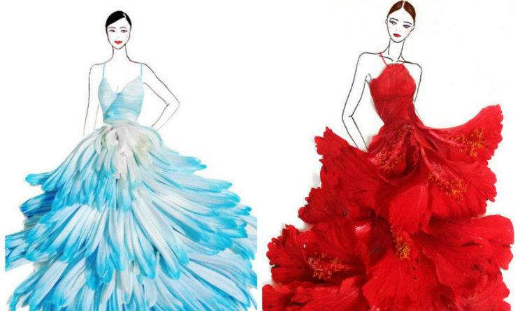 Super Dai fiori straordinari abiti di alta moda: gli esperimenti  AT06