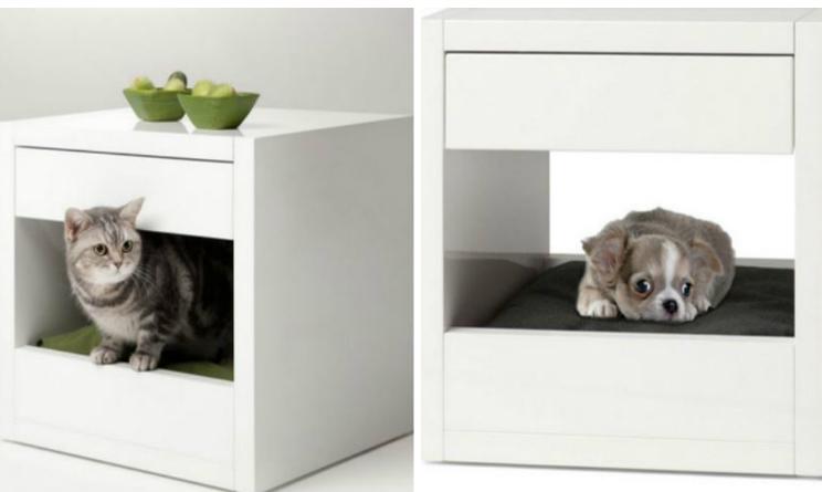 Arredare casa il comodino che si trasforma in cuccia per for Arredamento per gatti