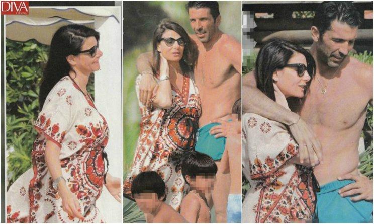 Ilaria D'amico e Gigi Buffon genitori