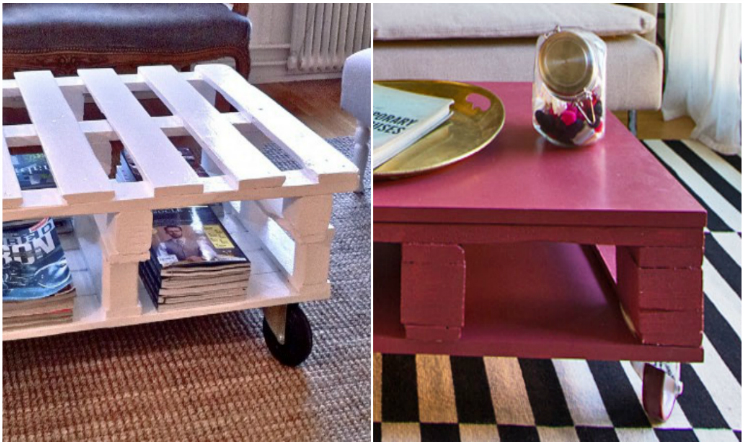 Riciclo creativo come costruire un bellissimo tavolino for Riciclo bancali legno