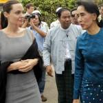 Angelina Jolie e AungS an Suu Kyi
