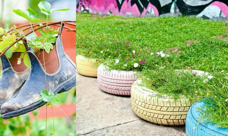 Idee fai da te per il giardino come arredarlo a costo - Oggetti per giardino ...