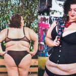 foto donne grasse, foto donne lingerie, obesità