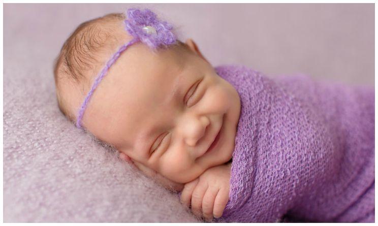 Sandi ford le immagini dei sorrisi dei bambini mentre dormono