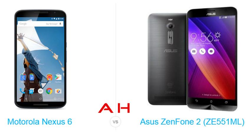 ASUS ZenFone Laser 2 Vs Nexus 6