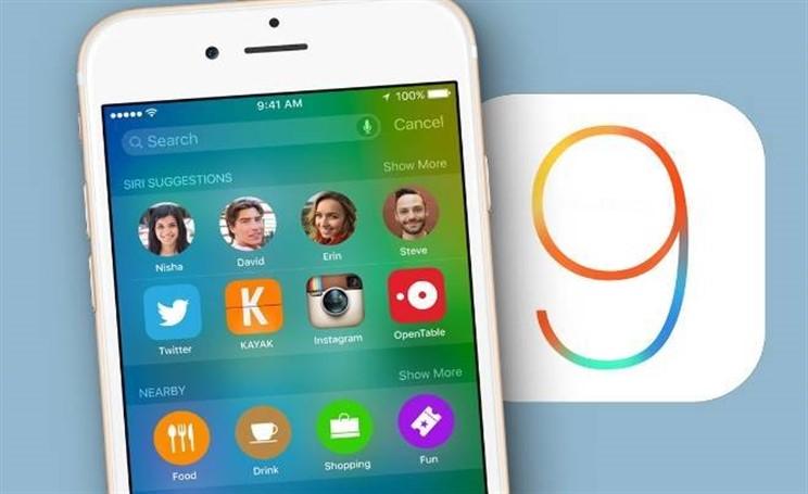 Aggiornamento iOS 9 dati
