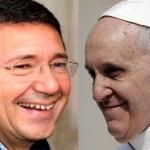papa papa francesco e ignazio marino