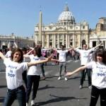 pope is pop flashmob