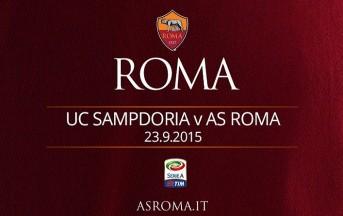 Sampdoria – Roma diretta live Serie A, risultato finale 2 – 1