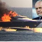 incendio yacht de laurentiis