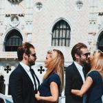 michelle hunziker e tomaso trussardi alla mostra del cinema di venezia 2015