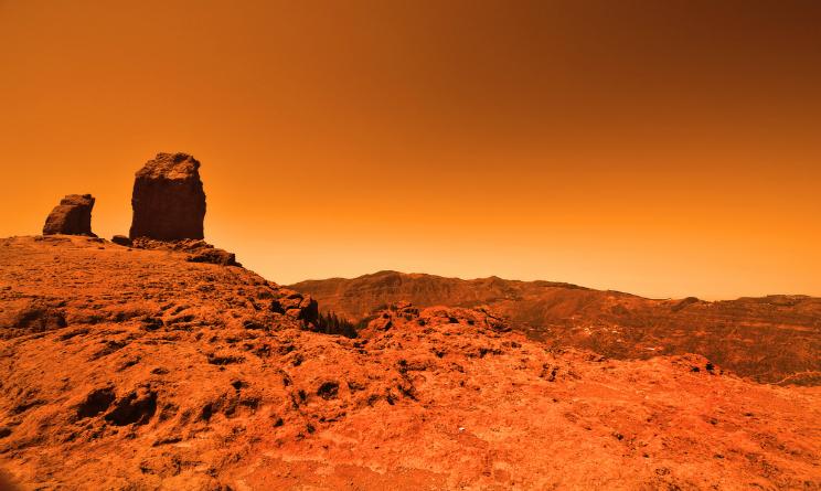 Marte pianeta bombardamento