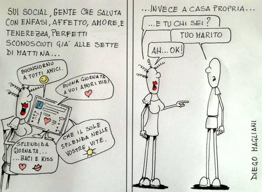 Saluti e Baci Vignetta Diego Magliani