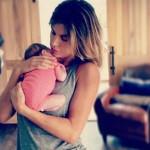 Elisabetta Canalis prima fot con sua figlia