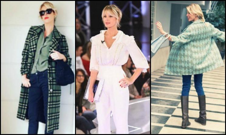 tendenze moda autunno 2015, alessia marcuzzi outfit, alessia marcuzzi abbigliamento, alessia marcuzzi borse, alessia marcuzzi nuovo look, alessia marcuzzi vestiti gf 2015, alessia marcuzzi vestito gf,