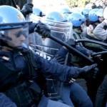 scontri polizia studenti 2 ottobre