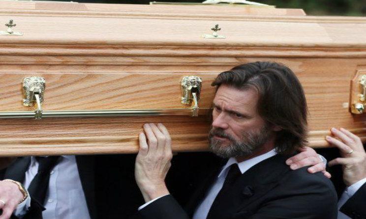 jim carrey funerale