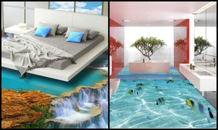 Case con pavimenti 3d le immagini degli interior design for Pavimento in resina 3d